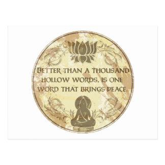 Palabras huecos de Buda Tarjeta Postal