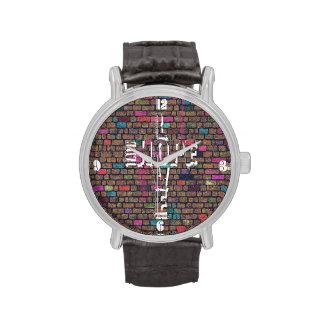 Palabras impresionantes frescas de la pintada de relojes