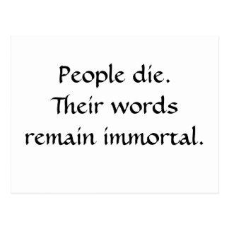 Palabras inmortales postales