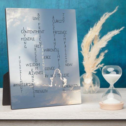 Palabras inspiradas a vivir cerca para la felicida placas con foto