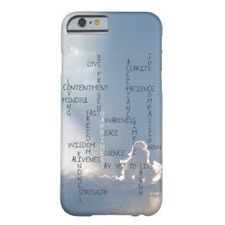 Palabras inspiradas a vivir cerca para la funda de iPhone 6 barely there