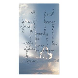 Palabras inspiradas a vivir cerca para la tarjetas de visita