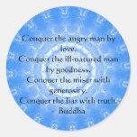 Palabras inspiradas de Buda de la CITA de la Pegatina Redonda