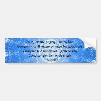 Palabras inspiradas de Buda de la CITA de la sabid Pegatina Para Auto