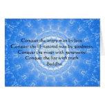 Palabras inspiradas de Buda de la CITA de la sabid Felicitación