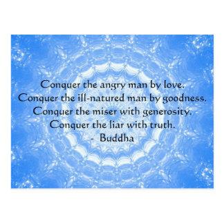 Palabras inspiradas de Buda de la CITA de la Postal