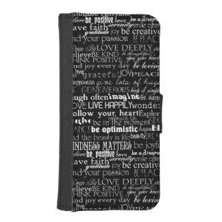 Palabras inspiradas fundas billetera para teléfono