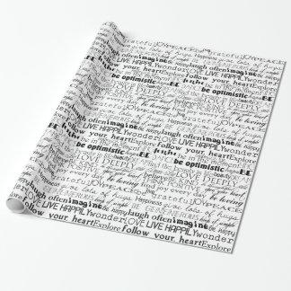 Palabras inspiradas papel de regalo