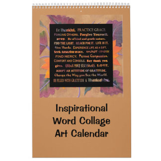 Palabras inspiradas y flores calendarios