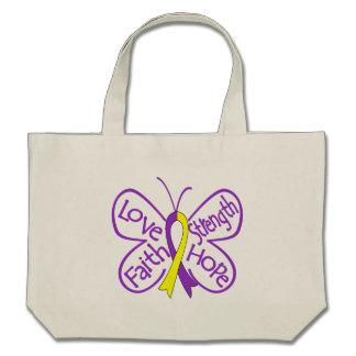 Palabras inspiradoras de la mariposa autoinmune de bolsas de mano