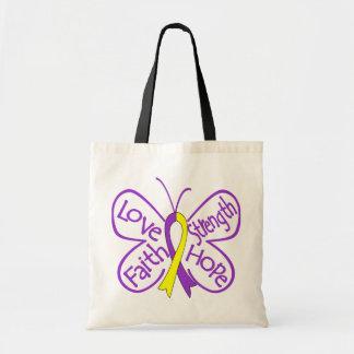 Palabras inspiradoras de la mariposa autoinmune de bolsa lienzo