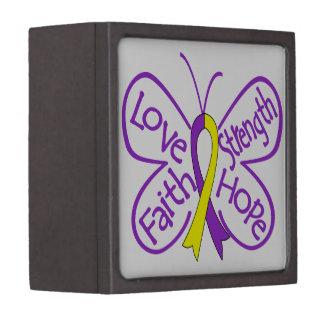 Palabras inspiradoras de la mariposa autoinmune de caja de regalo de calidad