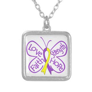 Palabras inspiradoras de la mariposa autoinmune de colgante personalizado