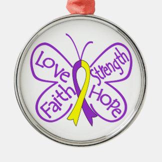 Palabras inspiradoras de la mariposa autoinmune de adorno de navidad