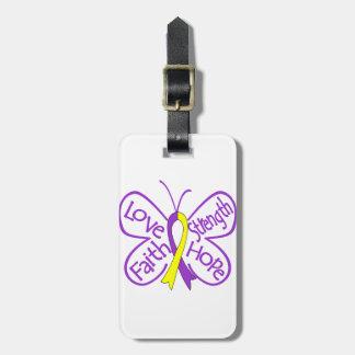 Palabras inspiradoras de la mariposa autoinmune de etiquetas bolsas