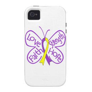 Palabras inspiradoras de la mariposa autoinmune de Case-Mate iPhone 4 carcasas
