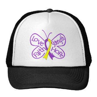 Palabras inspiradoras de la mariposa autoinmune de gorras de camionero