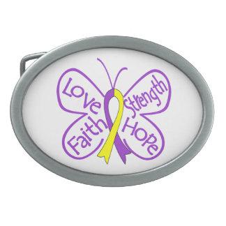 Palabras inspiradoras de la mariposa autoinmune de hebillas de cinturón ovales