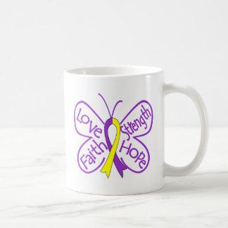 Palabras inspiradoras de la mariposa autoinmune de tazas de café