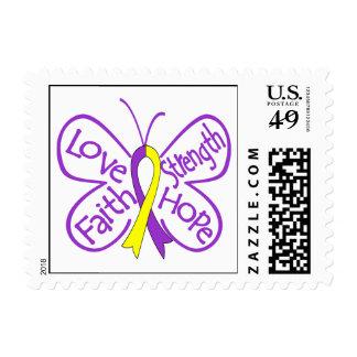 Palabras inspiradoras de la mariposa autoinmune de timbres postales