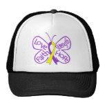 Palabras inspiradoras de la mariposa de la endomet gorra