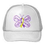 Palabras inspiradoras de la mariposa de la endomet gorros