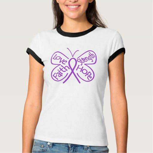 Palabras inspiradoras de la mariposa de la camiseta