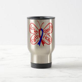 Palabras inspiradoras de la mariposa de la taza de viaje
