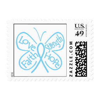 Palabras inspiradoras de la mariposa de la timbre postal