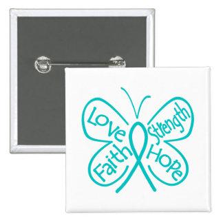 Palabras inspiradoras de la mariposa de PKD Pin