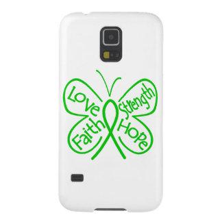 Palabras inspiradoras de la mariposa de TBI Carcasa Para Galaxy S5