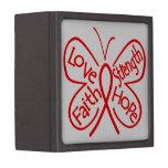 Palabras inspiradoras de la mariposa del abuso de  caja de joyas de calidad