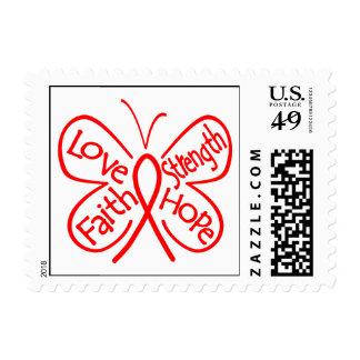 Palabras inspiradoras de la mariposa del abuso de sello postal