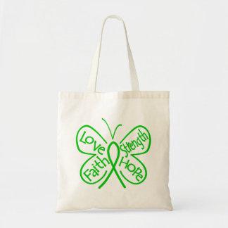 Palabras inspiradoras de la mariposa del cáncer bolsa tela barata