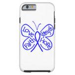 Palabras inspiradoras de la mariposa del cáncer de funda para iPhone 6 tough