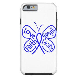 Palabras inspiradoras de la mariposa del cáncer de funda de iPhone 6 tough