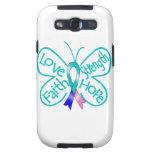 Palabras inspiradoras de la mariposa del cáncer de galaxy s3 cobertura