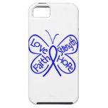 Palabras inspiradoras de la mariposa del cáncer de iPhone 5 funda