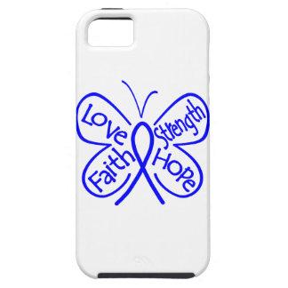 Palabras inspiradoras de la mariposa del cáncer de iPhone 5 fundas