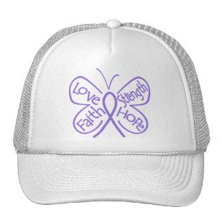 Palabras inspiradoras de la mariposa del linfoma d gorras