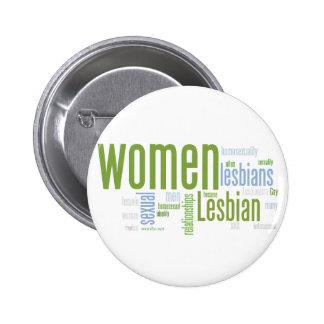 Palabras lesbianas pin redondo de 2 pulgadas