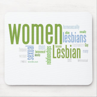 Palabras lesbianas tapete de ratones