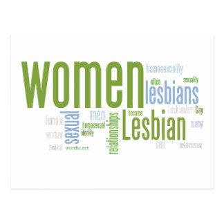 Palabras lesbianas tarjeta postal