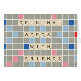 Palabras originales con los amigos tarjetón