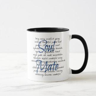 Palabras para el compañero del alma taza