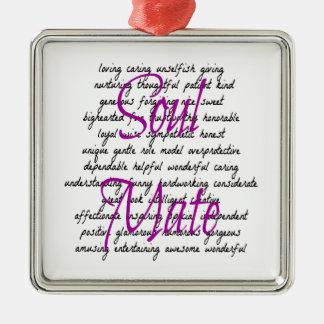 Palabras para el compañero femenino del alma adorno de reyes