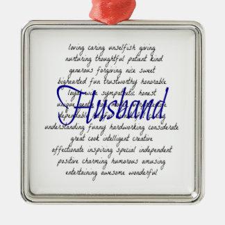 Palabras para el marido adornos de navidad