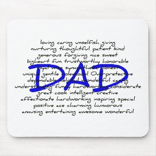 Palabras para el papá tapete de ratones