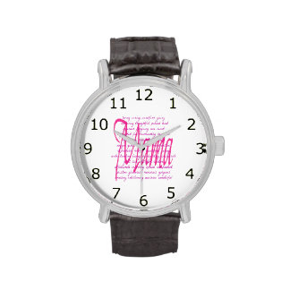 Palabras para la mamá relojes