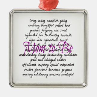 Palabras para que mamá sea ornamentos de navidad